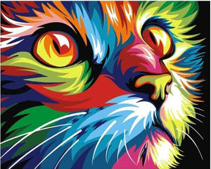 Colorful Cat-DIY Diamond Painting