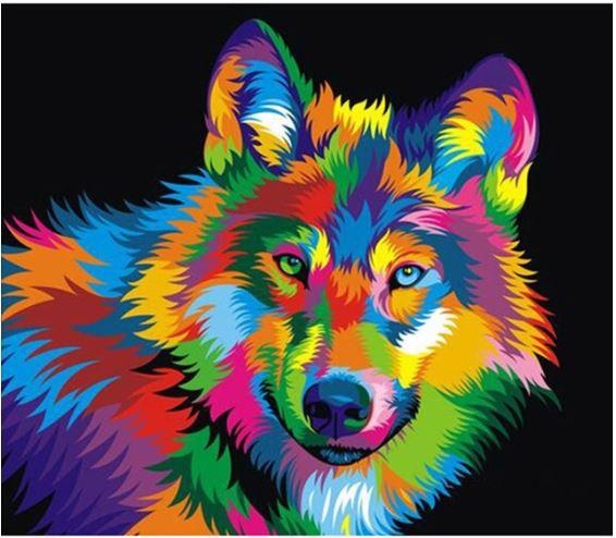 Colorful Husky-DIY Diamond Painting