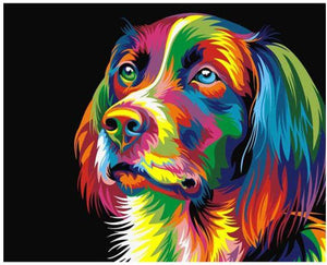 Colorful Dog-DIY Diamond Painting