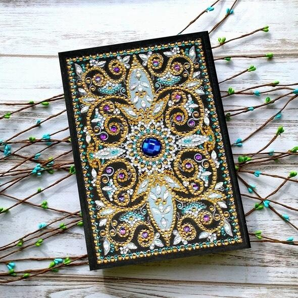 Azure Centerpiece Diamond Painting Notebook
