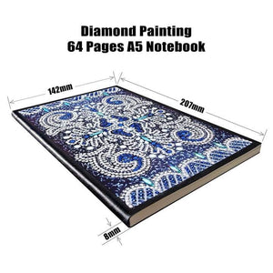 Shades Of Blue Diamond Painting Notebook