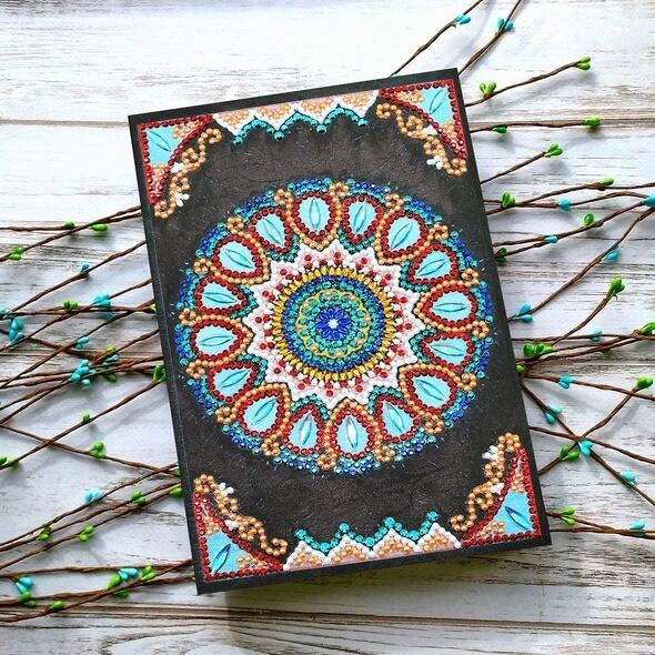 Blue Mandala Diamond Painting Notebook-DIY Diamond Painting