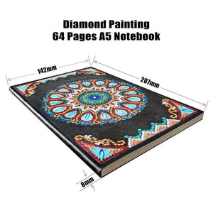 Blue Mandala Diamond Painting Notebook