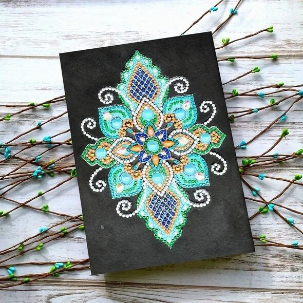 Blue Lotus Diamond Painting Notebook