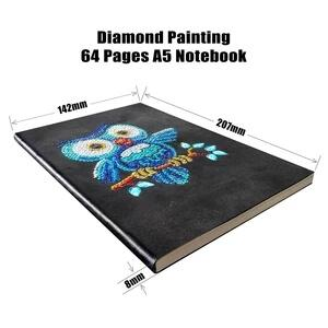 Blue Owl Diamond Painting Notebook