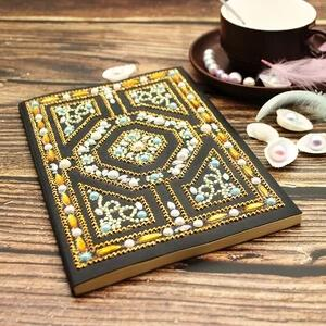 Gold Labyrinth Diamond Painting Notebook