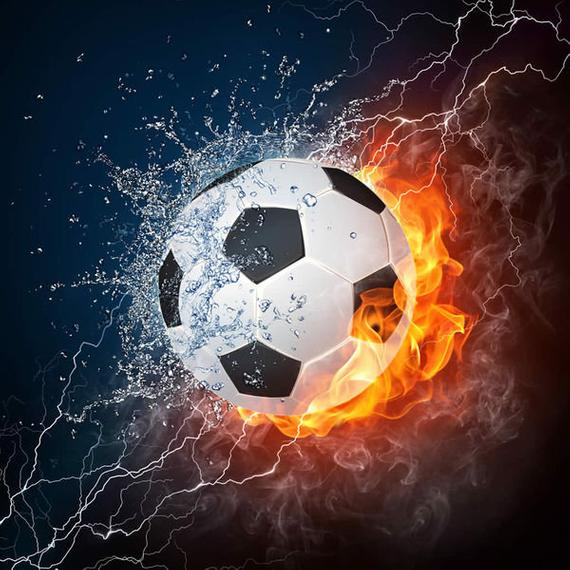 Soccer Ball fire and water