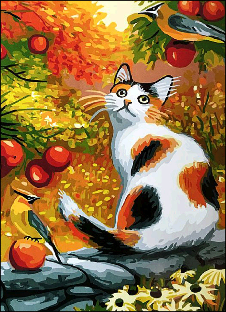 Cat in the Forest-DIY Diamond Painting