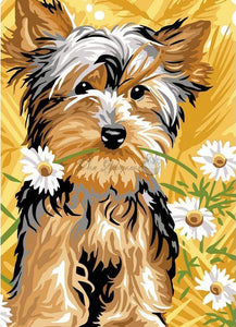 Painted Puppy Portrait-DIY Diamond Painting