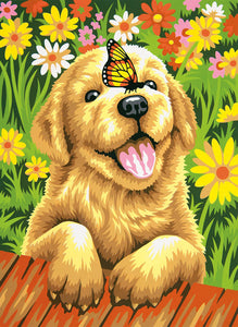 Dog in the Garden-DIY Diamond Painting