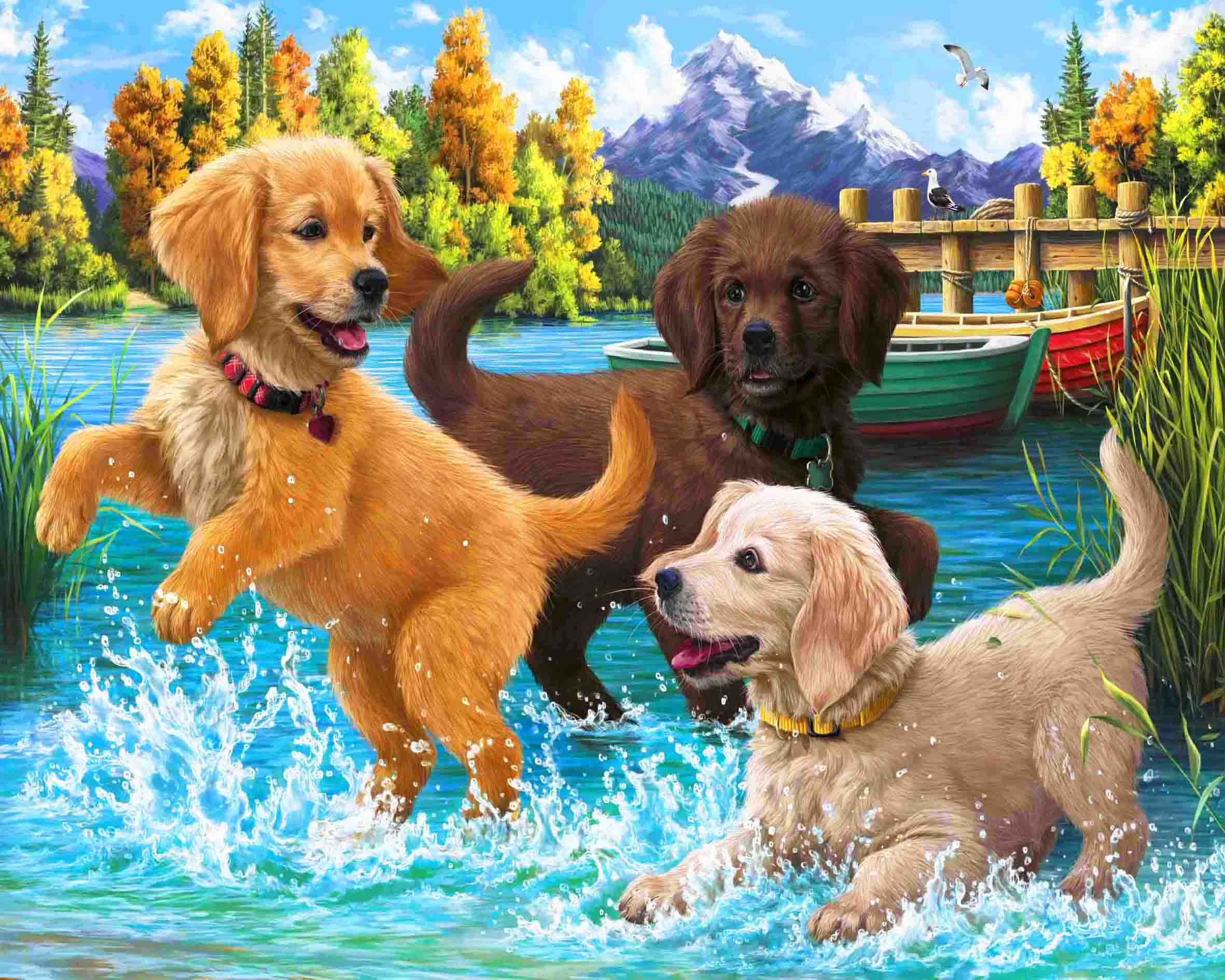 Three Puppies-DIY Diamond Painting