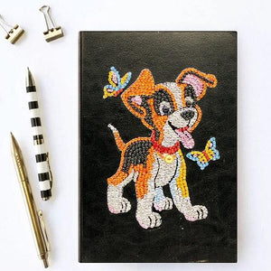 Dog & Butterfly Diamond Painting Notebook