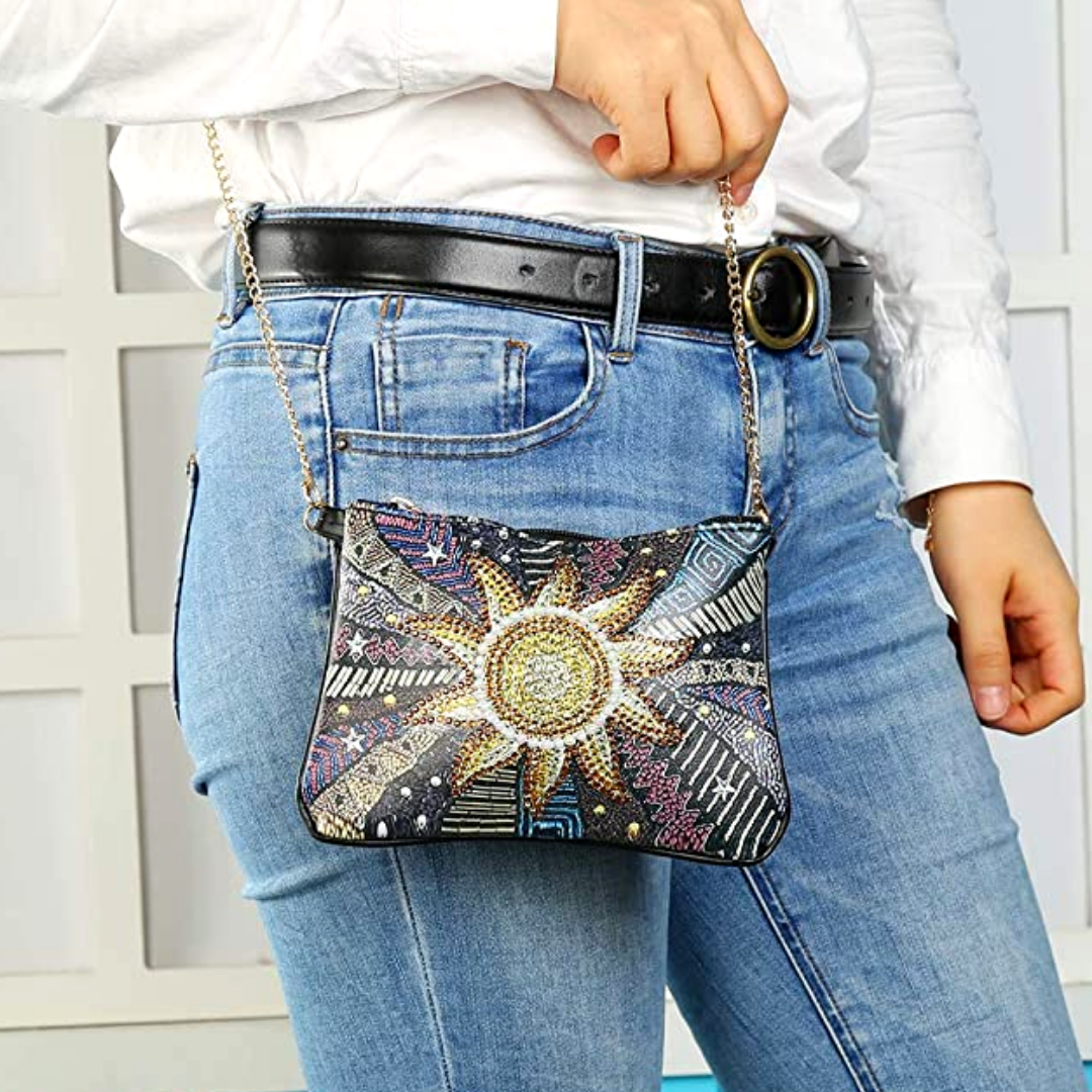 Sunflower Diamond Painting CrossBody Bag-DIY Diamond Painting