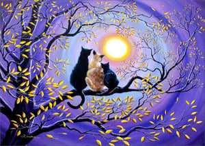Cats Under the Moon-DIY Diamond Painting