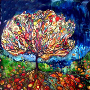 Swirled Colorful Tree-DIY Diamond Painting