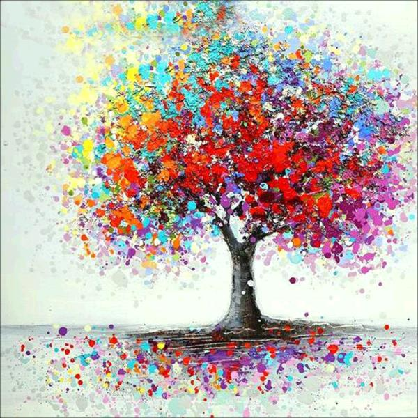 Color-Painted Tree-DIY Diamond Painting