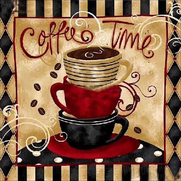 Coffee Time-DIY Diamond Painting