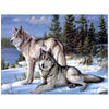 Lonely Wolf Couple-5D DIY Diamond Painting , Diamond Painting kit