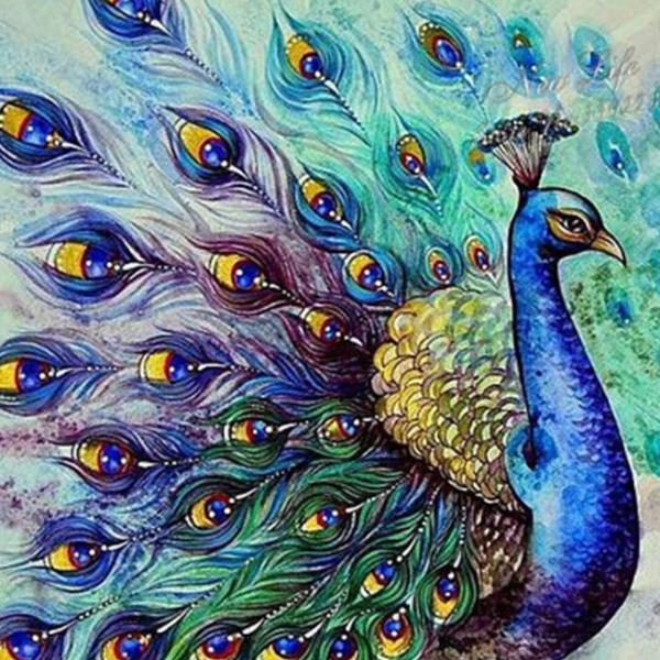 Peacock Queen-5D DIY Diamond Painting , Diamond Painting kit