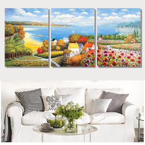 Lake & Flowers Landscape-5D DIY Diamond Painting , Diamond Painting kit