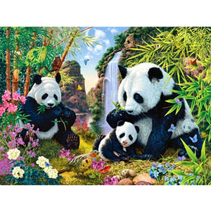 The Panda Family-5D DIY Diamond Painting , Diamond Painting kit