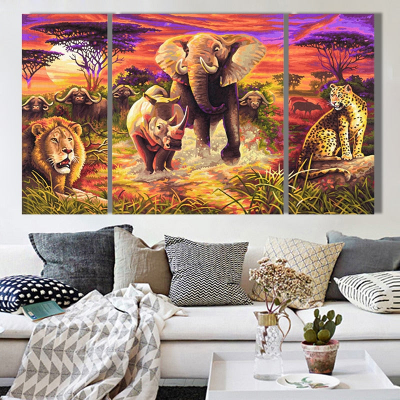 Savanna Panorama-5D DIY Diamond Painting , Diamond Painting kit