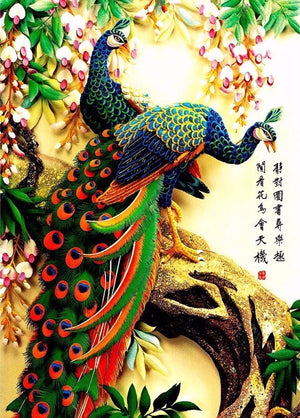 Majestic Peacocks-5D DIY Diamond Painting , Diamond Painting kit