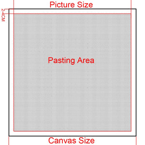 Blank Grid Premium Adhesive Canvas-DIY Diamond Painting