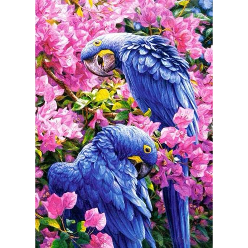 Blue Parrots-5D DIY Diamond Painting , Diamond Painting kit