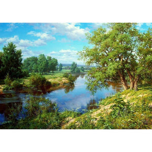Summer Lake-5D DIY Diamond Painting , Diamond Painting kit