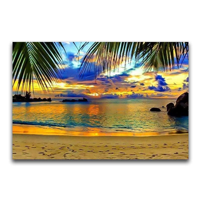 Seaside Beach-5D DIY Diamond Painting , Diamond Painting kit