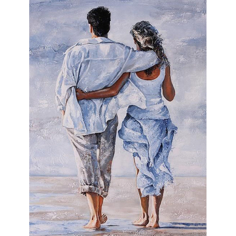 Beach Couple-5D DIY Diamond Painting , Diamond Painting kit