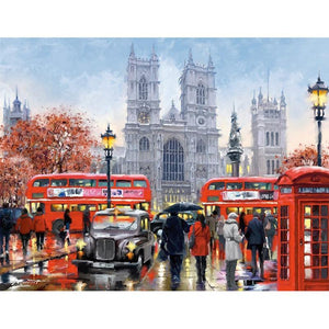 Rainy London-5D DIY Diamond Painting , Diamond Painting kit