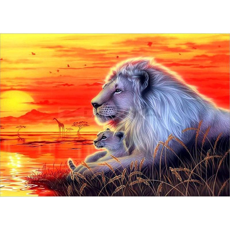 Lions on The Sunset