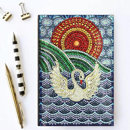 Swan Diamond Painting Notebook