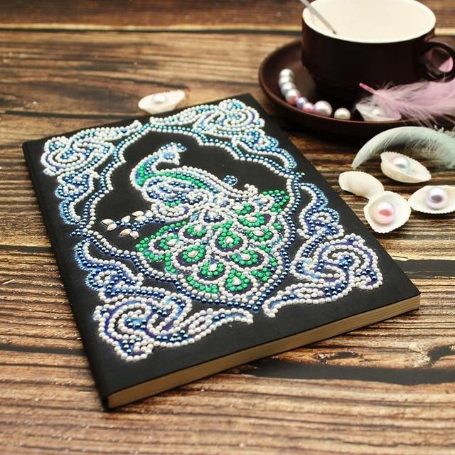 Emerald Peacock Diamond Painting Notebook