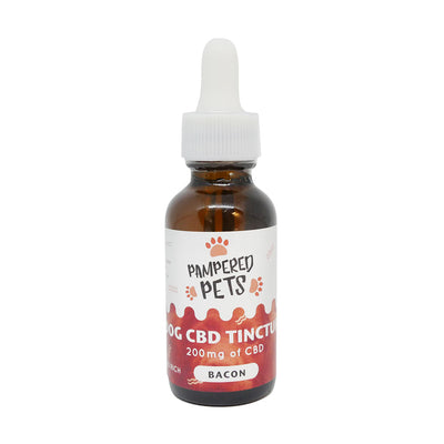 Pampered Pets CBD Tinctures Bacon