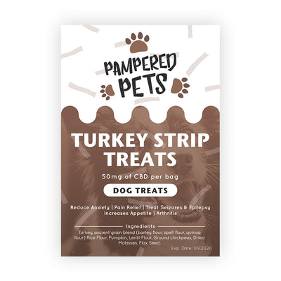 Pampered Pets Turkey Strip Dog Treats