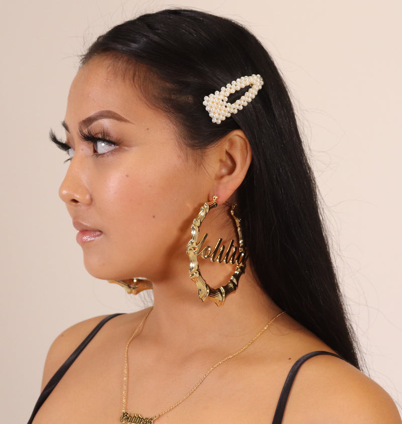 "18K Gold Plated ""Bamboo"" Hoops (PRE-ORDER)"