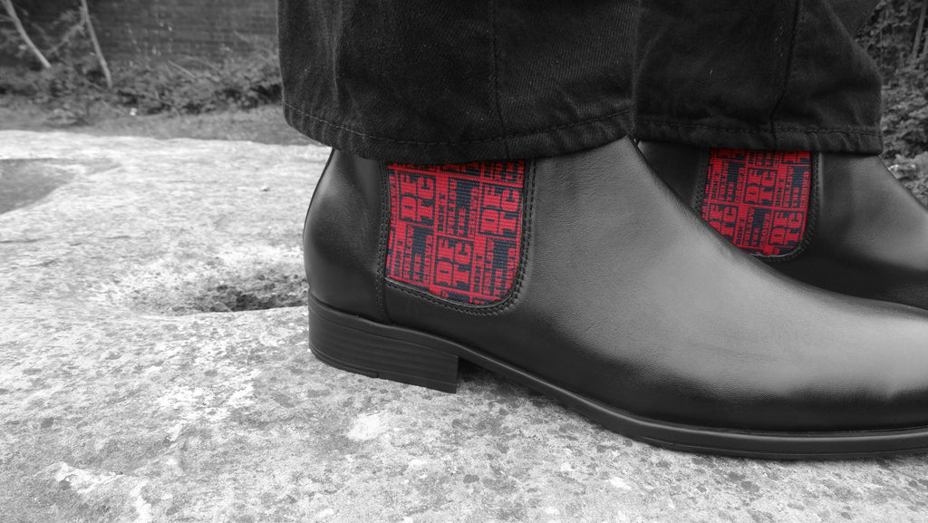DFTC pattern Chelsea boots by Dont Follow The Crowd