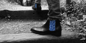 Chelsea Boots - Men's High Cut - Medieval Flowers