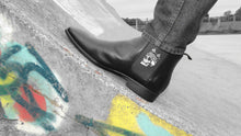 Load image into Gallery viewer, Black Mens Chelsea Boot - Skull King