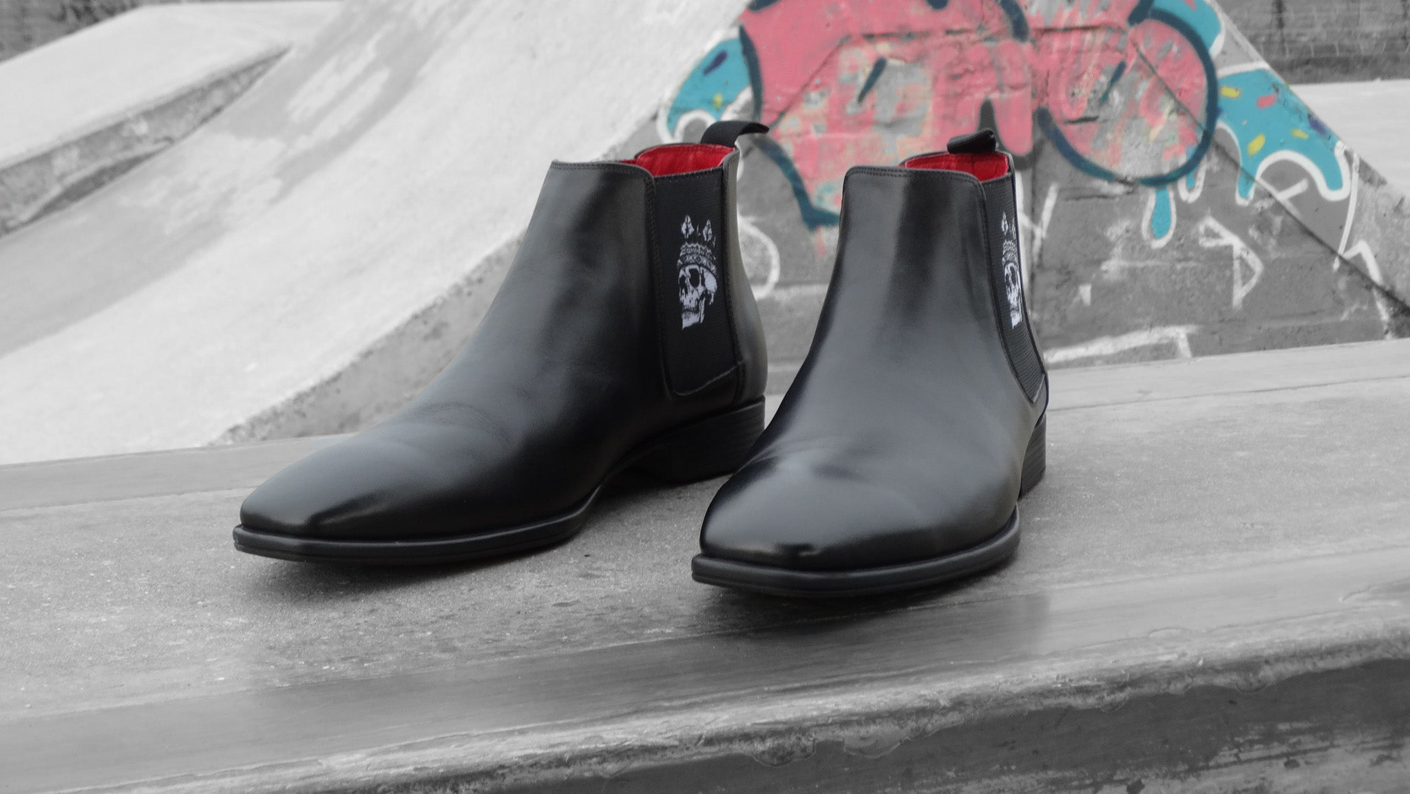 Chelsea Boots - Men's High Cut - Skull King
