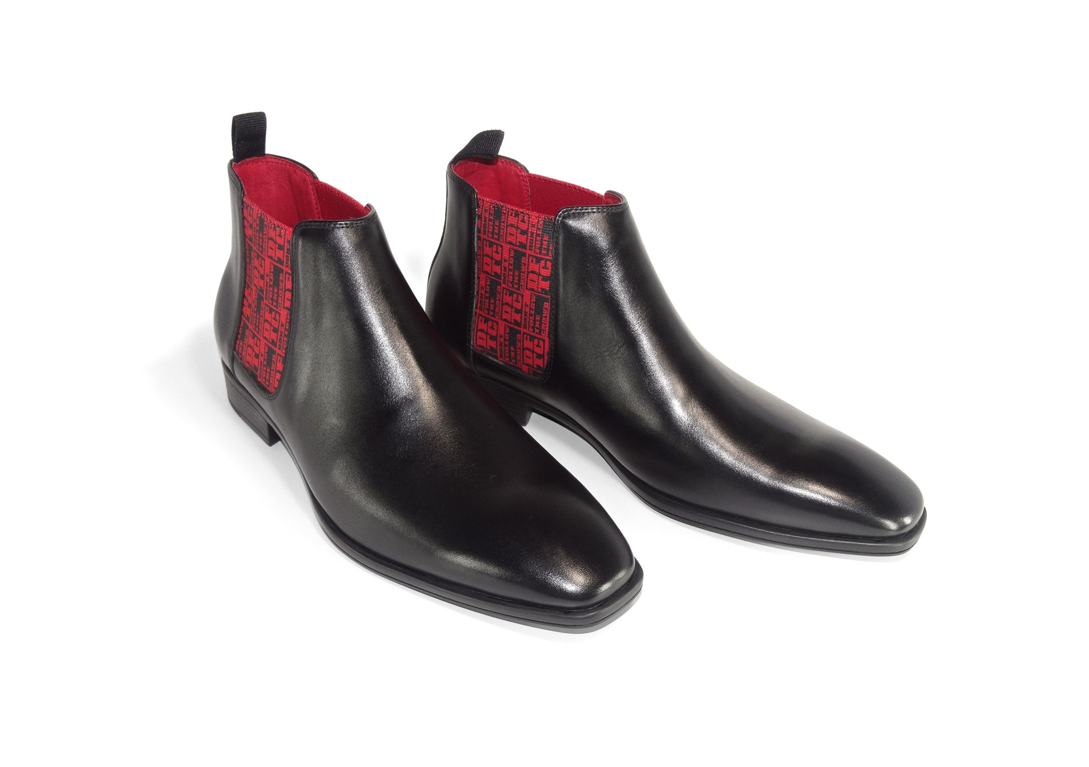 Black Mens Chelsea Boot - DFTC Pattern - pair quart