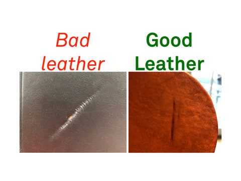 bad leather vs good leather