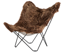Load image into Gallery viewer, Sheepskin Butterfly Chair - Iceland Mariposa