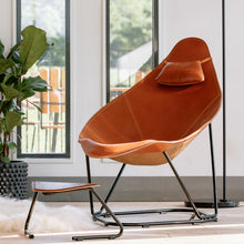"Load image into Gallery viewer, Modern Leather Armchair - Abrazo ""The Hug"""