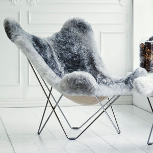 Sheepskin Butterfly Chair - Iceland Mariposa - Natural Grey