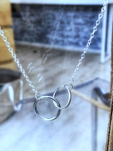 Two Entwined Circles Necklace
