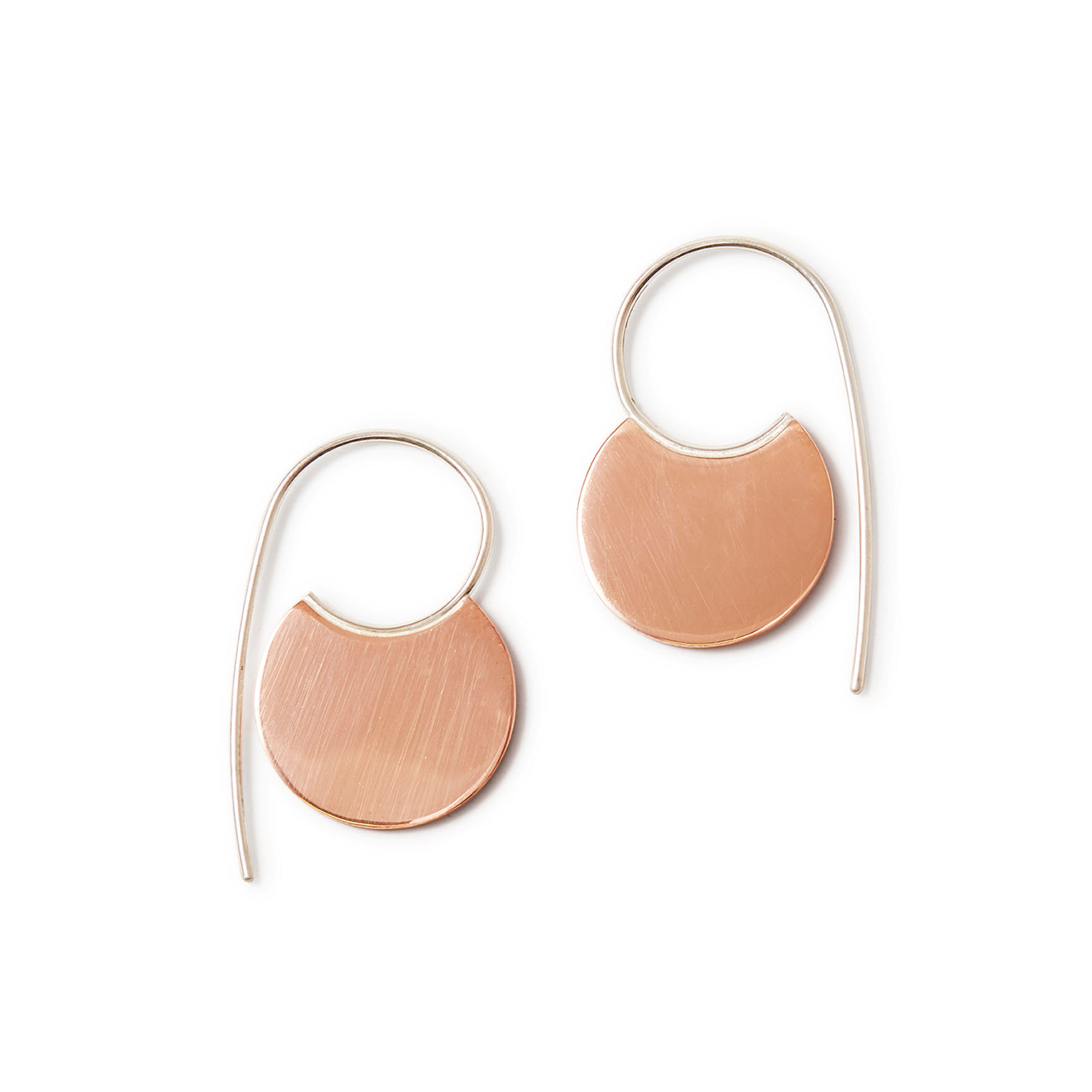 Circle Hoops - Copper